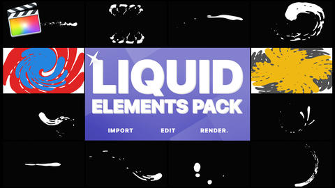 Liquid Elements And Transitions Apple Motion Template