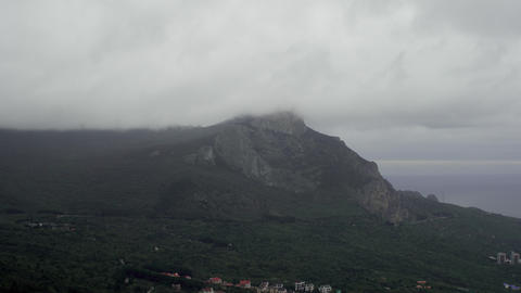 Clouds Passing Over Mountains Footage