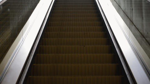 Escalator Going Up Stock Video Footage