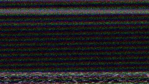 VHS TV damage, static television noise on black background. No signal, interference distortion Animation