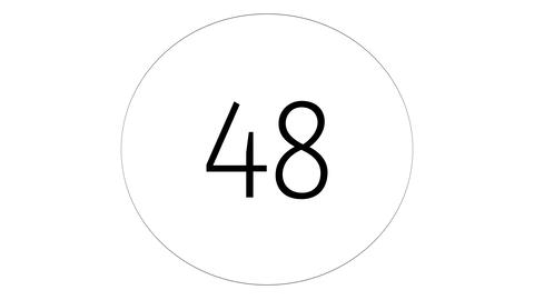 Countdown 60 to 0. Timer, chronometer on white background with black circle Animation
