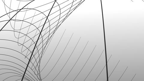 Line Art , monochrome ,Loop _1 CG動画