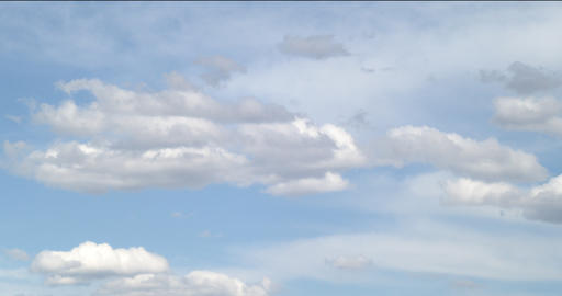 Charming blue sky with clouds - vertical panoramic footage