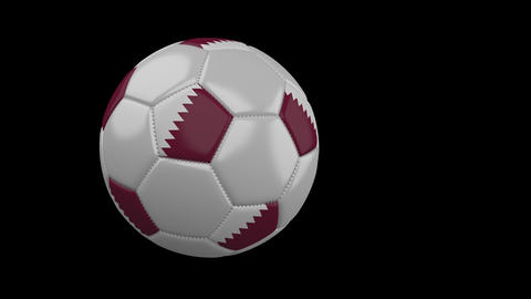 Qatar Flag And Soccer