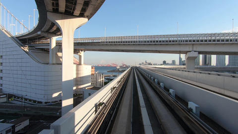 A travel picture of Japanese city traffic. Bridge and overpass ライブ動画