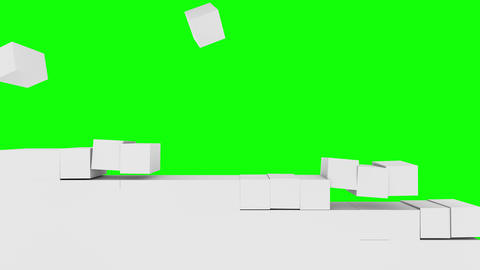Box , stack , white ,chroma key Animation
