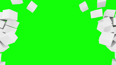 Box , crash , white ,chroma key Animation