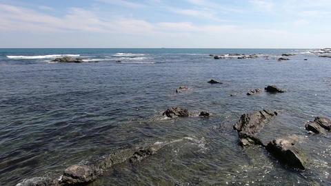 Rocks and ripples of the sea ビデオ