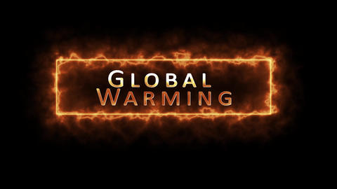 Global warming theme, generic or concept in black background Animation