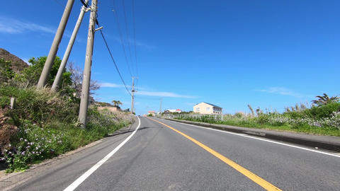 Sunny day, blue sky running video ビデオ