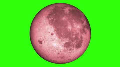 Blood Moon, Luna, Lunar. Red moonlight in green screen.…, Stock Animation
