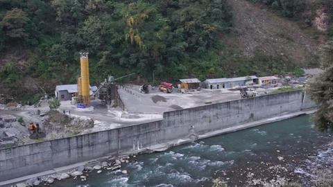 Hydro Electric power plant being built Live Action