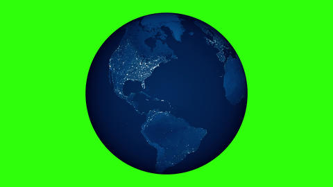 World Planet Earth And Moon In Green Screen 2