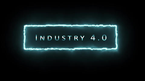 4K Industry 4.0 theme, concept or generic. 3D animation for industry, data, technology and global. Animation