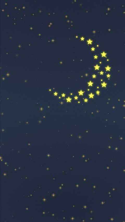 Stars Moon and Sun Vertical Animation