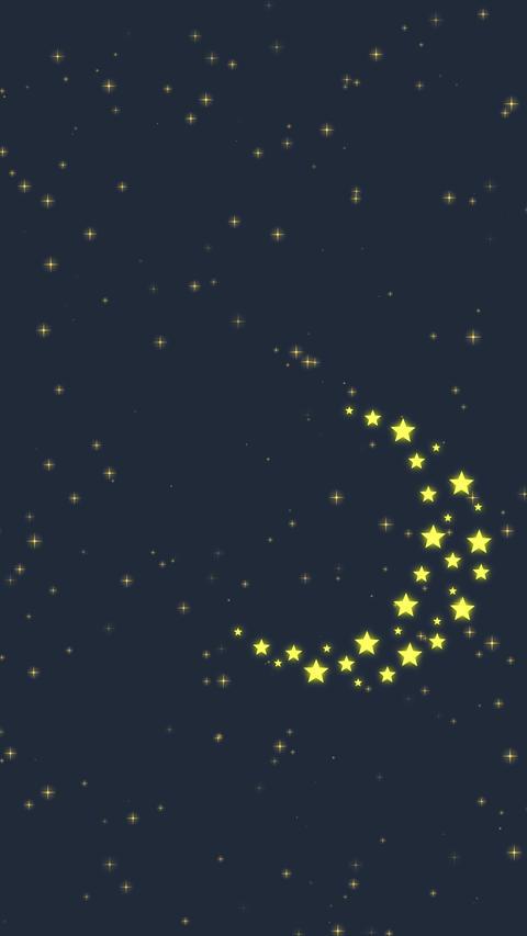 Stars Moon Vertical, Banco de Videos Animados