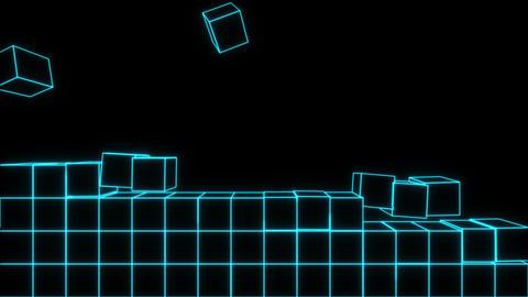 Box , stack , blue line Animation
