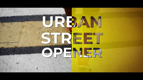 Urban Street Opener After Effects Template