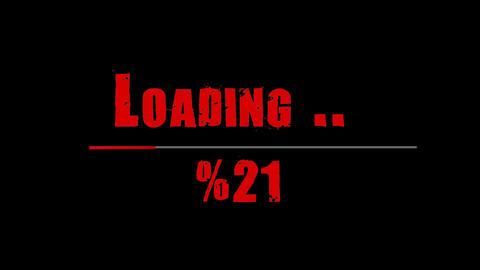 Scary, blody loading bar. Loading transfer download 0-100% . Animation on black screen Animation