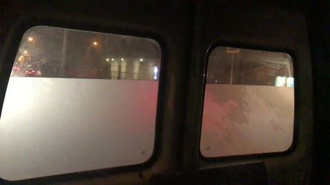 rear windows of an ambulance Footage