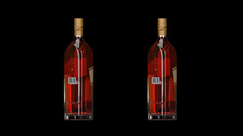 Johnnie Walker Whiskey. Animated Bottle 0