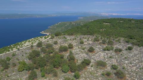 Aerial - Above Croatian coastline Footage