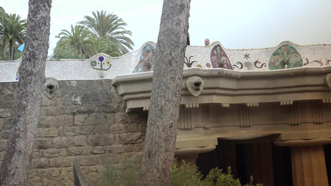 BARCELONA, A shot in Parc Guell,ULTRA HD 4K, real time Footage