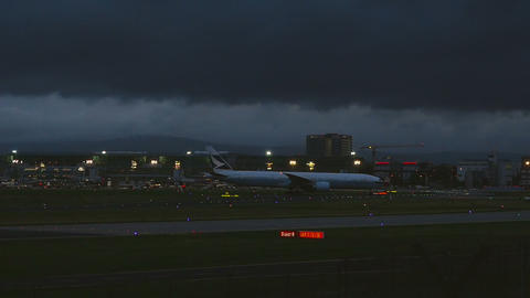 Frankfurt airport early morning Footage