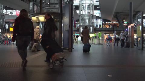 ULTRA HD 4k,real time view of trains arriving and departing at the Berlin Live Action