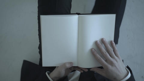 Businessman Holding A Notebook Footage