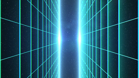 Vertical matrix grid moving towards camera in space Animation