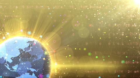 Earth on Digital Network 18 P2Gx 4k Animation