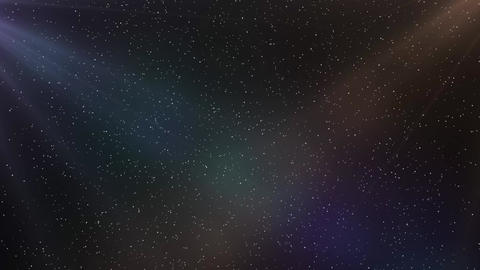 Journey between of stars, in space. Golden and Purple space light, milky way and cosmos animation Animation