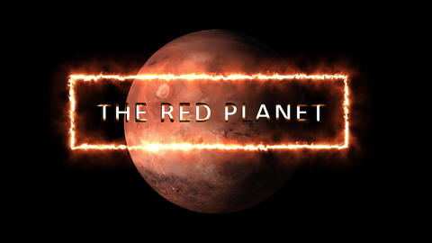 Red planet concept, theme or generic. Shiny text in front... Stock Video Footage