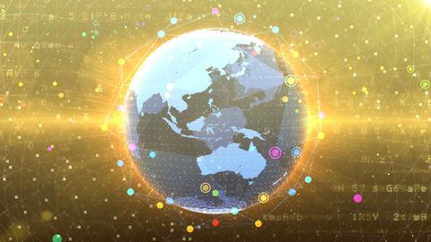 Earth on Digital Network 18 P2G 4k Animation