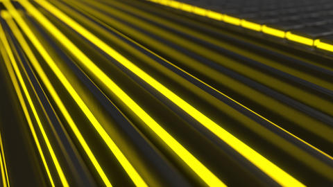 0862 Technological background loop with yellow glowing lines Footage