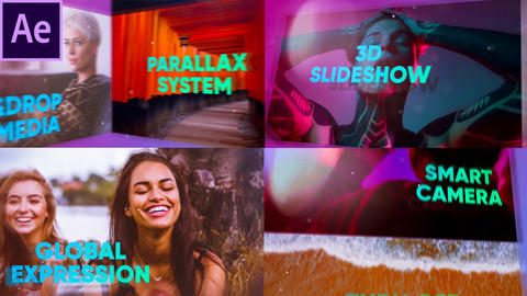 3D Colorful Slideshow Opener After Effects Template