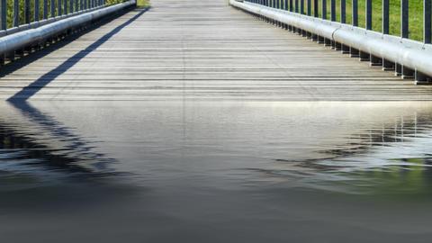 Bridge over a river Photo