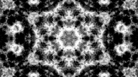 Black and white, tint kaleidoscope background. Beautiful graphic texture, symmetry. Fractal Animation