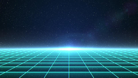 Horizontal matrix grid moving towards camera in space Animation