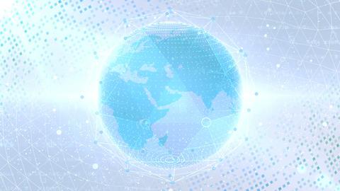 Earth on Digital Network 18 P1W 4k CG動画素材