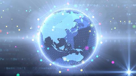 Earth on Digital Network 18 Q1G 4k GIF