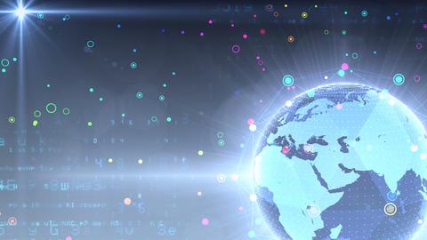 Earth on Digital Network 18 Q1Gx 4k Animation