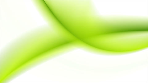 Abstract bright green white blurred waves video animation Animation