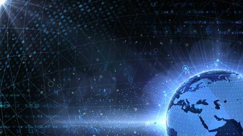 Earth on Digital Network 18 P1Bx 4k Animation