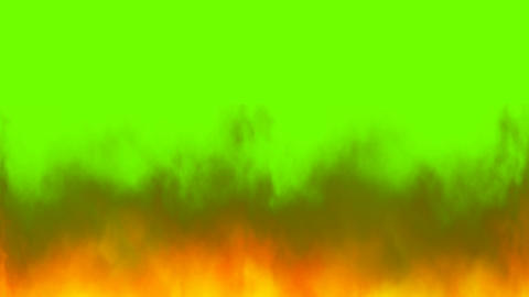 Real fire flames on chroma key, green screen background Animation