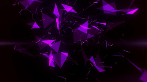 Purple Plexus Abstract Lines & Triangles & Rays Intro Logo Background Animation