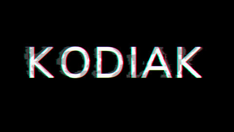 From the Glitch effect arises KODIAK. Then the TV turns off. Alpha channel Premultiplied - Matted Animation