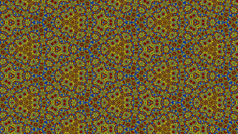 Colorful disco kaleidoscope background. Beautiful graphic texture, symmetry. Fractal ornaments 3D Animation