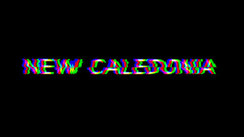 From the Glitch effect arises NEW CALEDONIA. Then the TV… Stock Video Footage